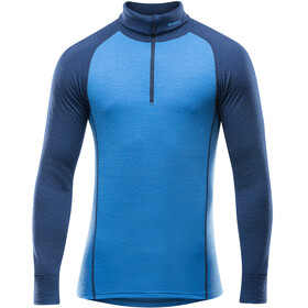 Devold Duo Active Zip Neck - Midlayer Hombre - azul/Turquesa
